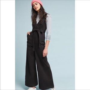 ANTHROPOLOGIE BLACK CHINO JUMPSUIT SIZE 8